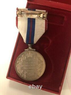 Queen Elizabeth II Silver Jubilee Medal 1977 Original Boxed Mint