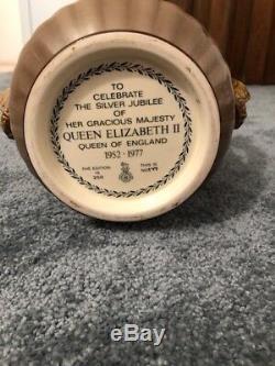 Queen Elizabeth II Silver Jubilee Royal Doulton Loving Cup