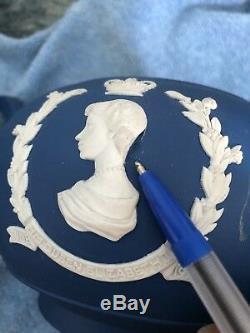 Queen Elizabeth II Silver Jubilee- Wedgwood Blue Jasperware Vgc