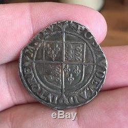Queen Elizabeth I (England) 1561 AR Silver Shilling Sears 2555 MINT STATE TONED
