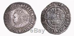 Queen Elizabeth I English silver sixpence VF