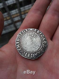 Queen Elizabeth I Silver Hammered Shilling 1592 1595
