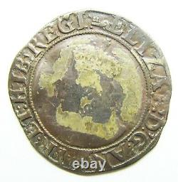 Queen Elizabeth I Tudor Silver Shilling 1595 1598 AD