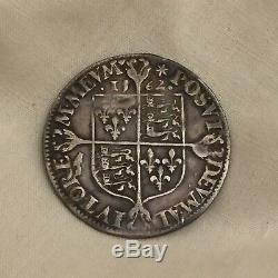 Queen Elizabeth I silver milled sixpence not hammered 1st