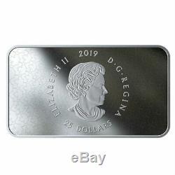 Queen Elizabeth Iis Personal Canadian Flag 2019 $25 1.5 Oz Fine Silver Coin Rcm