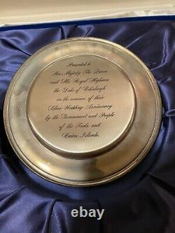 Queen Elizabeth Prince Philip Kirk COLLECTION STERLING SILVER PLATE Pouch 1977