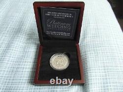 Queen Elizabeth & Prince Phillip Platinum Wedding £5 Silver Piedfort Coin-boxed