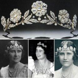 Queen Elizabeth Queen Mother Strathmore Rose Tiara style royal crown weddings