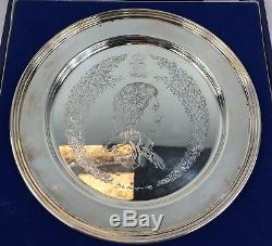 Queen Elizabeth Solid Silver 1977 Silver Jubilee Plate/Dish