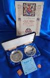 Queen Elizabeth Sterling Silver Jubilee Dishes 1977 Set + Extras Free Uk Ship