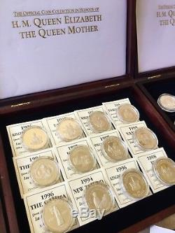 Queen Elizabeth The Queen Mother Official Silver Proof Collection. 43 Coins