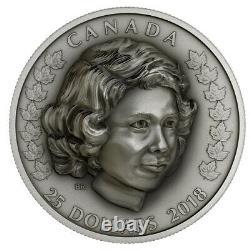 Queen Elizabeth The Young Princess 2018 Canada $25 Fine Silver Coin