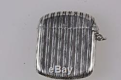 Queen Elizabeth Tudor Enamel Solid Silver Hallmarked Antique Match Vesta Case