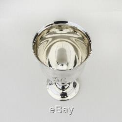 Queen Elizabeth Water Goblet Reed Barton Sterling Silver Mono