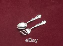 Queen Elizabeth by Towle 2 Piece Baby Fork & Spoon Set, New, Sterling Silver