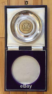 RARE 1977 Queen Elizabeth II Sterling Silver Jubilee Plate Alfred Cannon