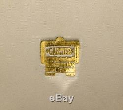 RARE CARTIER LONDON STERLING SILVER GOLD QUEEN ELIZABETH PRESENTATION BOX CASE