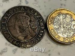RARE COIN QUEEN ELIZABETH 1st SILVER HAMMERED 1582