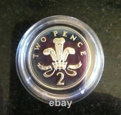 RARE GENUINE 925 SILVER 1996 Two Pence Coin Queen Elizabeth II GB UK