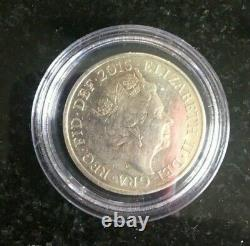RARE GENUINE SILVER Steel 2015 Two Pence Coin Queen Elizabeth II GB UK