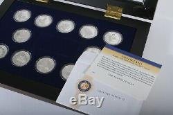 RARE History of Sailing Ships, 12 Sterling Coins, Franklin Mint, Queen Elizabeth