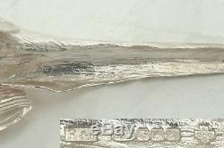 RARE PAIR of QUEEN ELIZABETH II HM STERLING SILVER TABLE PHEASANTS 2000