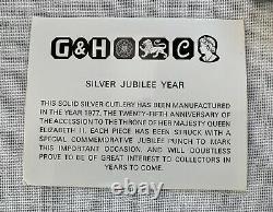 RARE Set of 6 STERLING Silver Queen Elizabeth II Jubilee Demitasse Spoons in box