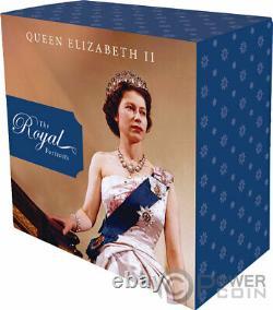 ROYAL PORTRAITS Queen Elizabeth II 1 Oz Silver Coin 5$ Tokelau 2020