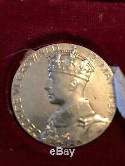 Rare 1937 Silver Medal. George VI & Queen Elizabeth. Born Same Year Medal. Look
