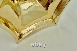 Rare Cased Queen Elizabeth II Irish Hm Sterling Silver Gilt Communion Set