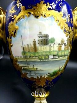 Rare Coalport Ltd Edition Lidded Urn Queen Elizabeth II Silver Jubilee 1953-1977
