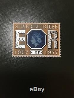 Rare! GB 1977 Stamp / Queen Elizabeth Silver Jubilee