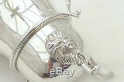 Rare Irish Queen Elizabeth II Hm Sterling Silver 3 Footed Cream Jug 1969