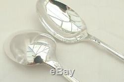 Rare Pair Queen Elizabeth II Hm Sterling Silver La Regence Serving Spoons 1993