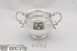 Rare Queen Elizabeth II Hm Sterling Silver 5 Piece Tea Set 1968