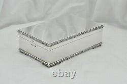 Rare Queen Elizabeth II Hm Sterling Silver Celtic Banded Cigarette Box 1965