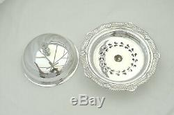 Rare Queen Elizabeth II Hm Sterling Silver Domed Butter Dish