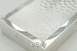 Rare Queen Elizabeth II Hm Sterling Silver Honeycomb Design Table Cigarette Box