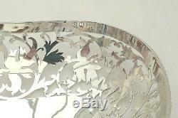 Rare Queen Elizabeth II Hm Sterling Silver Pierced Fruit Basket 1997