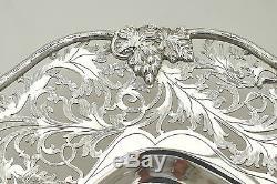 Rare Queen Elizabeth II Hm Sterling Silver Pierced Fruit Dish 1967