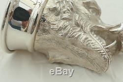 Rare Queen Elizabeth II Hm Sterling Silver Wild Boar Stirrup Cup