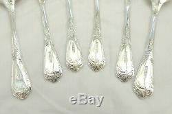 Rare Set 6 Queen Elizabeth II Hm Sterling Silver La Regence Dessert Spoons 1993
