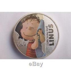 Rare Snoopy silver finish 3D commemorative medal Queen Elizabeth coin set