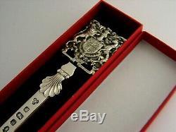 Rare Sterling Silver Royal Letter Opener 1977 Queen Elizabeth