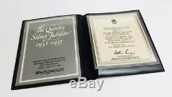 Rare WEDGWOOD LIMITED EDITION QUEEN ELIZABETH II 1977 JUBILEE SILVER BOX
