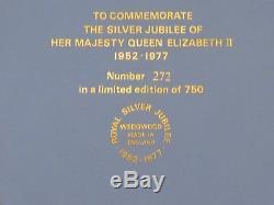Rare Wedgwood Five-Color LE HRM Queen Elizabeth II Silver Jubilee Trophy Plate