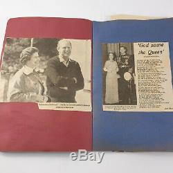 Real Relic Vintage 1952 1977 Queen Elizabeth II Silver Jubilee Scrap Book Collec