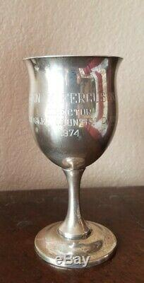 Reed & Barton H120 Queen Elizabeth Sterling Silver Water Goblet embroidered