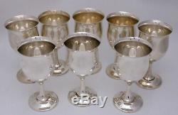Reed & Barton Queen Elizabeth Sterling Silver Wine / Water Goblets Set of 8