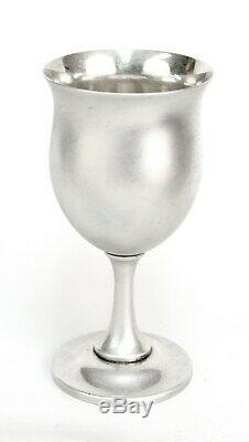 Reed & Barton Sterling Queen Elizabeth Tulip Shaped Water Goblets H120